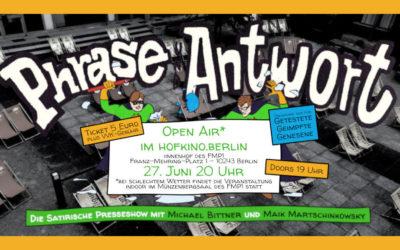 PHRASE & ANTWORT #12 OPEN AIR